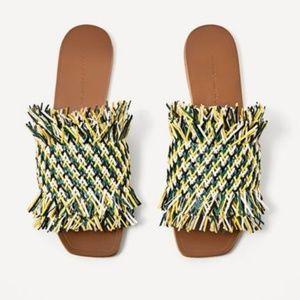 Zara colorful braided flats